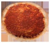 Pizzaboden mit Tomatensauce